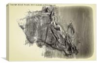 Lingfield Thoroughbred, Canvas Print