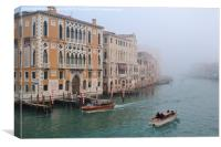 Looking down the Canals in Venice., Canvas Print