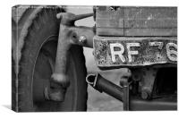 Old Farm tractor slowly falling apart., Canvas Print