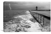 Storm at Brightlingsea, Canvas Print