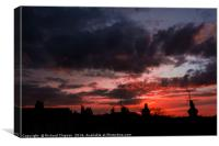Sunset over Colchester , Canvas Print