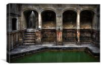Roman Bath, Canvas Print