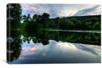 Evening Lake, Canvas Print