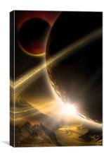 X Planet, Canvas Print