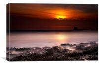 Saltwick Bay Sunrise, Canvas Print