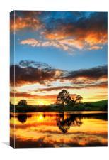 Lake Sunset, Canvas Print