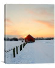 winter dusk, Canvas Print