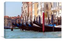 Gondolas , Canvas Print