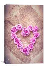 Rose Heart, Canvas Print