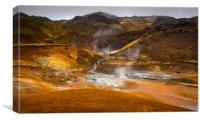 Geothermal Area, Canvas Print