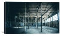 Abandoned Factory Room, Canvas Print