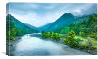 Valley River, Canvas Print