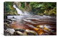 Conwy Falls, Canvas Print
