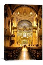 Inside Santa Maria de Montserrat, Canvas Print