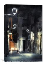 Night Urban Street, Canvas Print