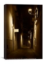 Dark Street, Canvas Print