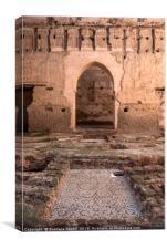 El Badi Palace Ruins, Canvas Print