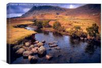a Road of River, Canvas Print