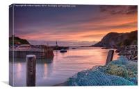 Ilfracombe Harbour Sunrise, Canvas Print