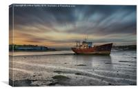 Rusty old ship Instow North Devon, Canvas Print