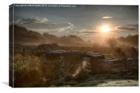 Post Bridge Dartmoor, Canvas Print