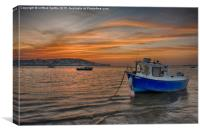 Instow Sunset, Canvas Print