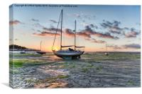 Sailing Yacht Instow Sunset, Canvas Print