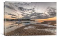Sunset At Instow North Devon, Canvas Print