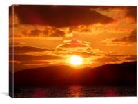 Loch Assynt Sunset, Canvas Print