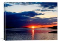 Lochbroom Spring Sunset , Canvas Print