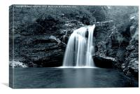 Falls of Falloch - Black and White, Canvas Print