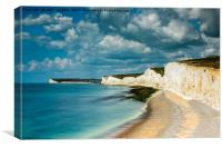 Seven Sisters and Cuckmere from Birling Gap, Canvas Print