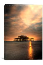 Brighton Pier Sunset, Canvas Print