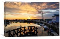 Littlehampton Sunset over the Arun River, Canvas Print