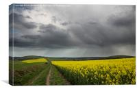 Rain on Harrow and Blackpatch Hill, Worthing, Canvas Print