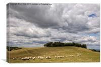 Clouds over Chanctonbury Ring, near Worthing, Canvas Print
