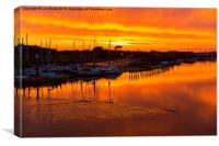 Littlehampton Sunset over the Arun River, Canvas Print