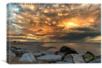 Lancing Beach near Widewater Lagoon, Canvas Print