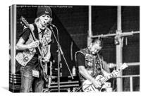 SnakeByte gigging at the Eastbourne Steampunk Fest, Canvas Print