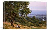 Contemplation on Cissbury Ring, Worthing, Canvas Print