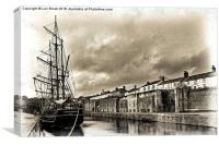 Earl of Pembroke at Charlestown Harbour, Canvas Print