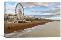 Brighton Beach and Wheel, Canvas Print