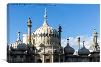 Brighton Royal Pavilion Rooftop, Canvas Print