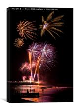 Worthing Beach Fireworks November 2016, Canvas Print