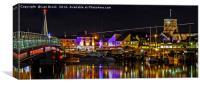 Shoreham Harbour at Night, Canvas Print