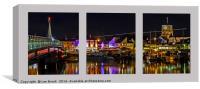 Shoreham Harbour at Night Triptych, Canvas Print
