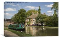 The Navigation Inn and Canal Boat, Canvas Print