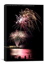 Fireworks from Worthing Pier, Canvas Print