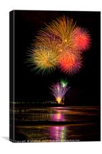 Worthing Beach fireworks 2017, Canvas Print