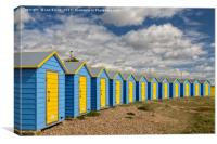 Littlehampton Beach Huts, Canvas Print
